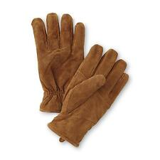 OutdoorLife Mens Suede Leather Gloves tan faux Sherpa fleece sizes M-L, L-XL NEW
