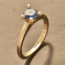 Blue Sapphire Rose Gold Filled Wedding Engagement promise love Ring,Size 6 7 8 9