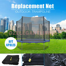New Replacement Trampoline Safety Net Enclosure 8-16FT for 6-12 poles Trampoline