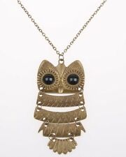Fashion Vintage Bronze Owl Women Jewelry Sweater Long Chain Pendant Necklace