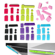 "New Silicone Anti Dust Plug Ports Cover Set For Macbook 15"" air 11"" 13"" Retina G"