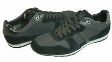 Hugo Boss Mens Orlendo Black Suede Lace-Up Casual Fashion Sneakers Shoes Kicks