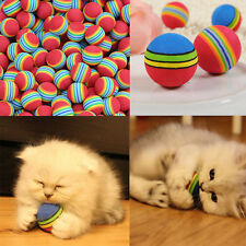 3/6/9pcs Colorful Pet Cat Dog Kitten Soft Foam Rainbow Play Balls Activity Toy
