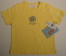 LIFE IS GOOD Boo Boo Daisy Flower Tee Shirt Yellow Snaps New Girls Size 12 Month