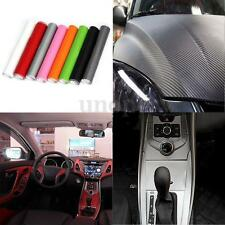 DIY 3D Carbon Fiber Vinyl Car Wrap Sheet Roll Film Sticker Decal 200x20cm New