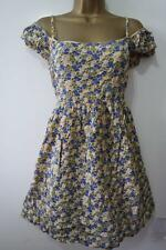 NEW LOOK YELLOW BLUE FLORAL DRESS SIZE 8 - 18 NEW COLD SHOULDER TEA SUN TUNIC