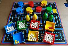 SELECTION OF VINTAGE PAC-MAN BOARD GAME SPARES; PAC-MAN, BOARD, GHOSTS, TRAYS,