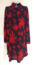 COSY Long Sleeve Multi PRINT Pattern Shift TUNIC Roll Neck Dress Womens Sz 12-16