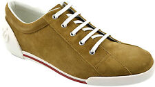 $640 GUCCI Camel Suede Leather SOFTY TEK Casual Sneakers Mens Shoes