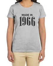 Made in 1966 50th Birthday Gift Idea Retro Cool Women T-Shirt Novelty Present