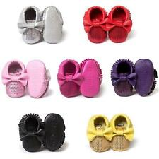 Baby Fashion Soft Sole PU Leather Shoes Toddler Infant Boy Girl Tassel Moccasin