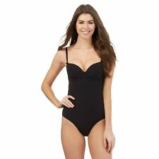 J By Jasper Conran Womens Black Plain Mesh Swimsuit From Debenhams