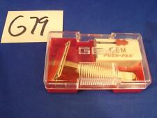 G79 VINTAGE 1940'S GEM FEATHER WEIGHT RAZOR PUSH-PAK BLADES SET NOS MINT