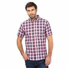 Maine New England Mens Red Bold Checked Shirt From Debenhams