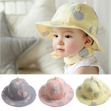 Baby Infant Kids Girls Cotton Hat Cap Summer Sun Beach Lovely Polka Dot Hats New