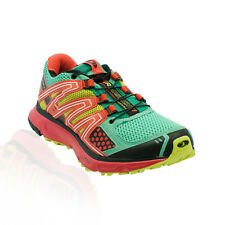 Salomon - XR Mission Trail Running Shoes - Celadon/Papaya-B/Pop Green