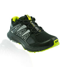 Salomon - XR Mission Trail Running Shoes - Black/Light Onyx/Organic Green