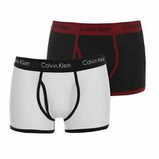 2 Pack Mens Calvin Klein Trunks Underwear Boxer Shorts S M L XL Black/White/Red