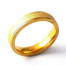 Charm Yellow Gold Filled Womens Band Ring fashion jewelry Size 6 7 8 9