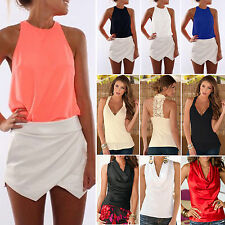 Womens Summer Sexy Sleeveless Casual Tank Tops Ladies Fashion Beach T-Shirt Vest