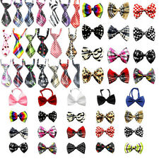 66 modle Mix Skull Style Polyester Halloween Pet Dog Necktie Adjustable Bow Tie