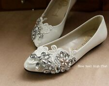 4 kind heel Lace bridal crystal wedding shoes rhinestone bridesmaid prom shoes