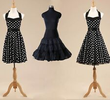 Vintage 1950's Rockabilly Audrey Hepburn Evening Party Ball Gown Swing Dress