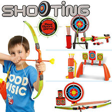 New Bow and Arrow & Blow Shooter Kids Archery Set Target Outdoor Garden Game