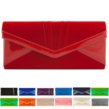New Faux Suede Women Clutch Bag Designer Ladies Envelope Evening Party Prom UK