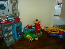 Boys girls bundle of toys garage, shop, speedway, cars, fisher price, ELC joblot