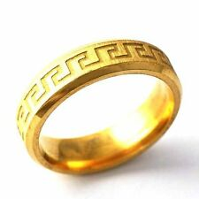 Carve Mystic pattern Womens Yellow Gold Filled Band Ring Size 8 9 10 11 12
