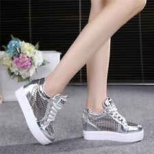 Womens Shoes Fashion Wedge Sneakers High Heel Sport Sandals Tennis Casual Shoes