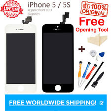 Original LCD For iPhone 5 5S Replacement Screen Touch Digitizer Black White