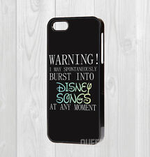 HARD CASE FOR ALL IPHONE MODELS - SINGING DISNEY SONGS QUOTE FUNNY JOKE GIRLY