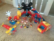Disney Mickey Mouse Clubhouse Toy Bundle - Figures Mickey Minnie Mouse *FAB*