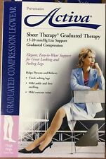 Activa Sheer Therapy, 15-20 mmHg, Lite Support, Thigh High Lace Top, CT, Nude