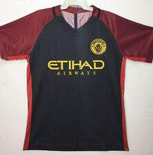 Manchester City Adult Soccer Jersey Top Fluro Green Blue Navy