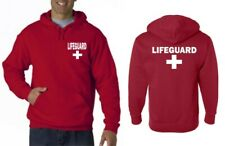 LIFEGUARD HOODIE YMCA HOODY JACKET SWEATSHIRT LIFE GUARD SHIRT No Cross Frt & Bk