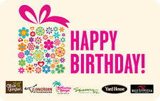 Yard House Restaurants  - Happy Birthday Gift Card $25 $50 $100 - Email delivery