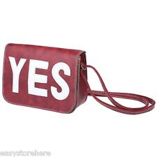 Simple Letter Print Faux Leather Spaghetti Strap Vintage Square Bag for Girls