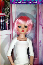 Synthetic Short Doll Wig size 6-7 fits Ellowyne, Evangeline Violet, Pink, White