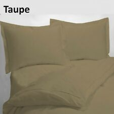 USA 1000TC 100% EGYPTIAN COTTON TAUPE SOLID BEDDING ITEMS CHOOSE SIZE & BEDDINGS