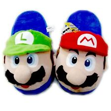 New Cute Lovely Gifts Home Warm Super Mario Plush Slippers Red and Green Styles