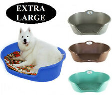 EXTRA LARGE STRONG PLASTIC WATERPROOF DOG BED PET BED SLEEPER BASKET ANIMAL