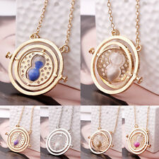 Harry Potter Time Turner Necklace Hermione Granger Rotating Spins Hourglass BGO