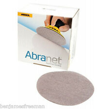 MIRKA Abranet 125mm dust-free net abrasive sanding pads (box of 50 discs)