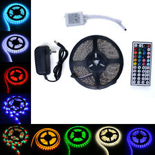 5M SMD 5050 3528 RGB Waterproof 300 LED Strip Light &44 IR Key Remote &12V Power