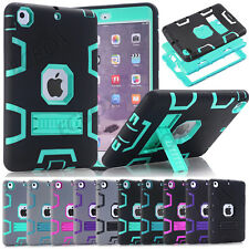 Shockproof Extreme Hybrid High Impact TPU PC Combo Kickstand Case For iPad Mini