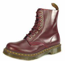 DM Dr Martens Pascal 8 Eye Ladies Lace Up Airwair Boots Oxblood Burgundy Buttero