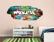 Personalised Graffiti Coloured Wall art sticker Name style Boys/Girls Bedroom 2